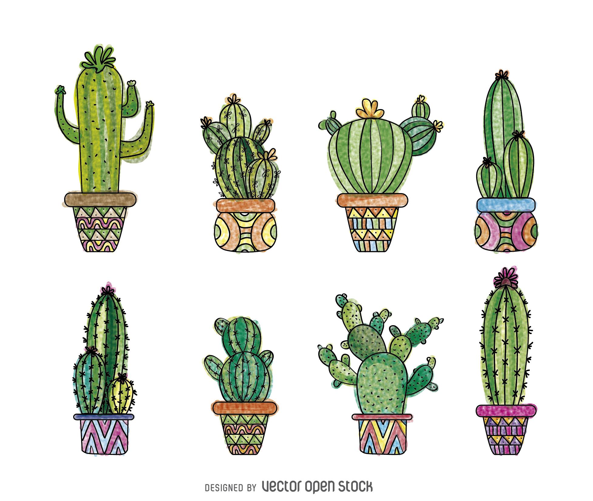 Drawn cactus Cactus Hand drawn Hand download
