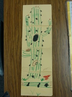 Drawn cactus desert animal Desert 25 Kindergarten and Habitat