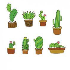 Drawn cactus flat design On Cactus Tribal design Art