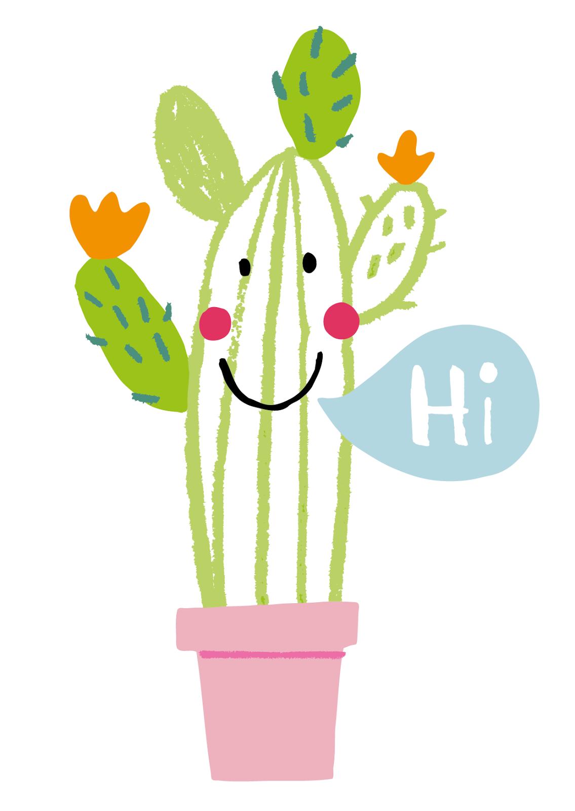 Drawn cactus overlays Fun plant Boretzki Illustration cactus