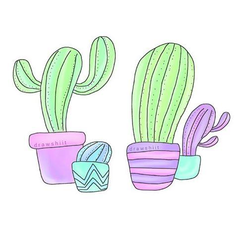 Drawn cactus overlays # #cactie •cactus• #transparent &
