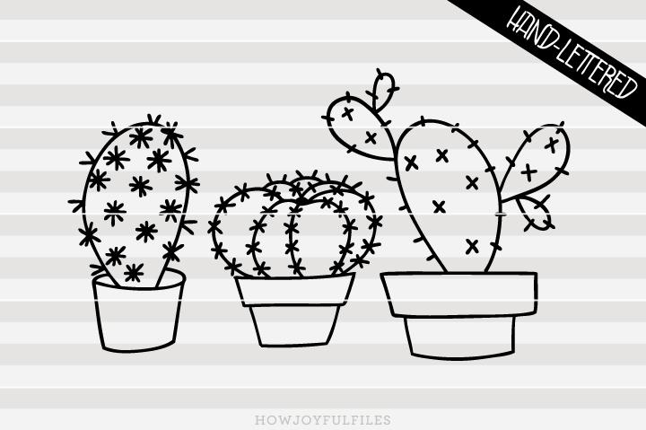Drawn cactus overlays Cut hand PNG Cactus drawn