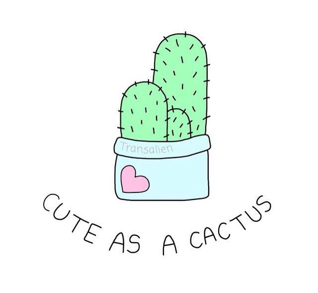 Drawn cactus overlays 25+ ♡ ☾☯pinterest: ArtWallpaperDrawingCactusDoodlesKawaii dibujo