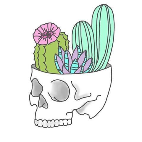 Drawn cactus overlays # #transparents •skull• #tumblrgirl &