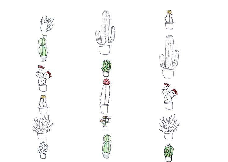 Drawn cactus small Tattoo Google cactus tattoo 26