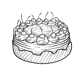 Drawn cake Vector drawn Search drawing