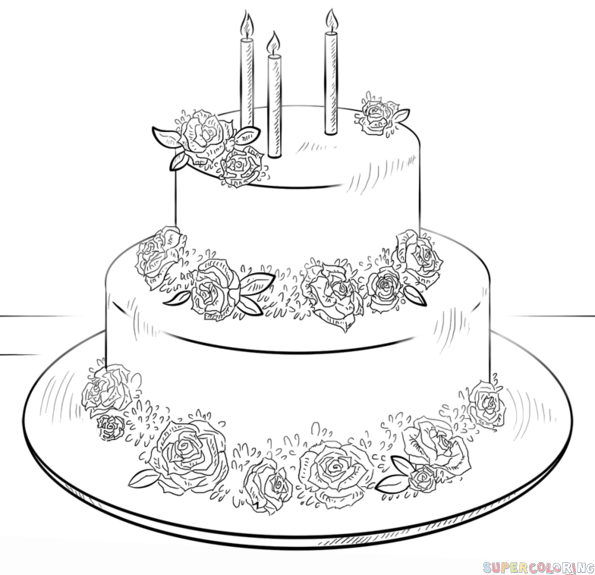 Drawn cake How Cake by tutorials a