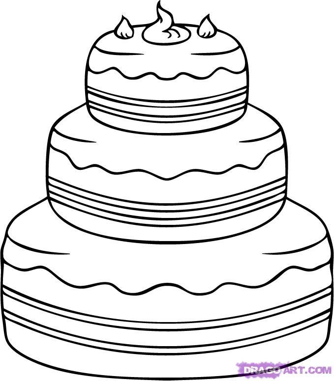 Drawn cake 4 step by Pop a