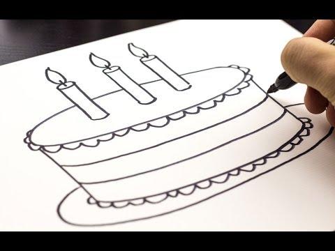 Drawn cake How Cake A Birthday Birthday