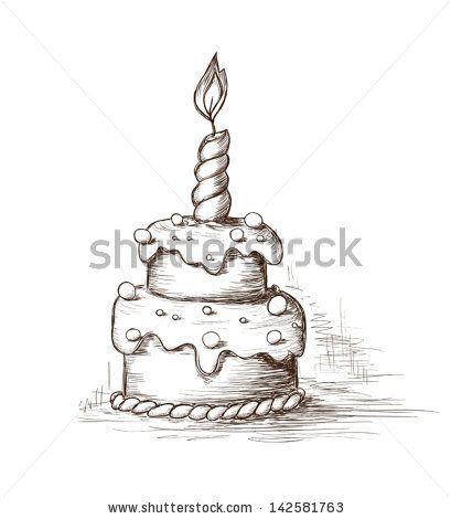 Drawn cake 15 vector on cake Bakery