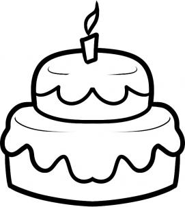 Drawn cake Lightofunity Draw To Coloring Pages