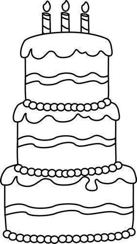 Drawn cake big 25+ coloring Best Pinterest Birthday
