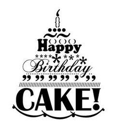 Drawn cake birthday greeting  More birthday Birthday love