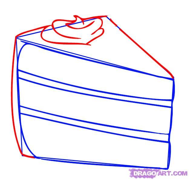Drawn cake cake slice Of  Slice cute Slice