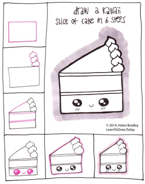 Drawn cake cake slice Style Tags: Style kawaii 6