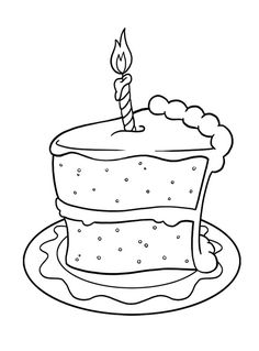 Drawn cake child Cake Birthday  Birthday Pinterest