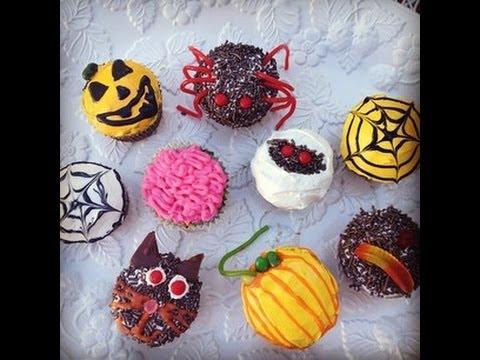 Drawn cake halloween cupcake Cupcake Cooking Decorating  Easy