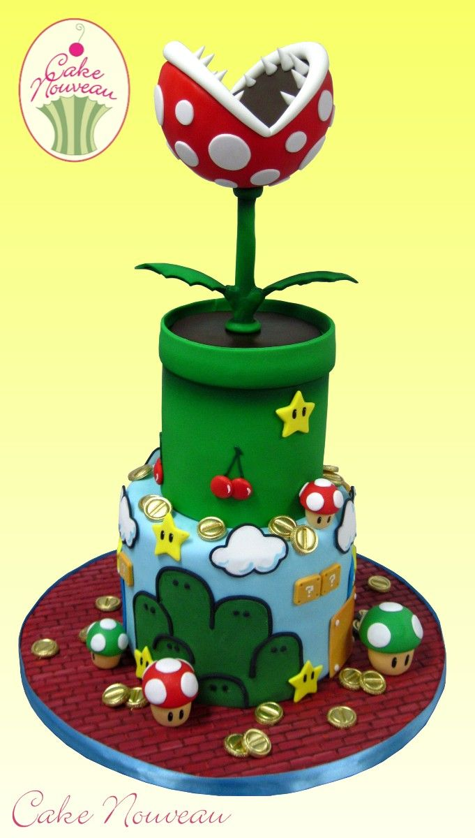 Drawn cake mario 12 Bros Nouveau Mario on