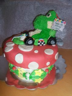 Drawn cake mario Rice cake from Pinterest mushroom
