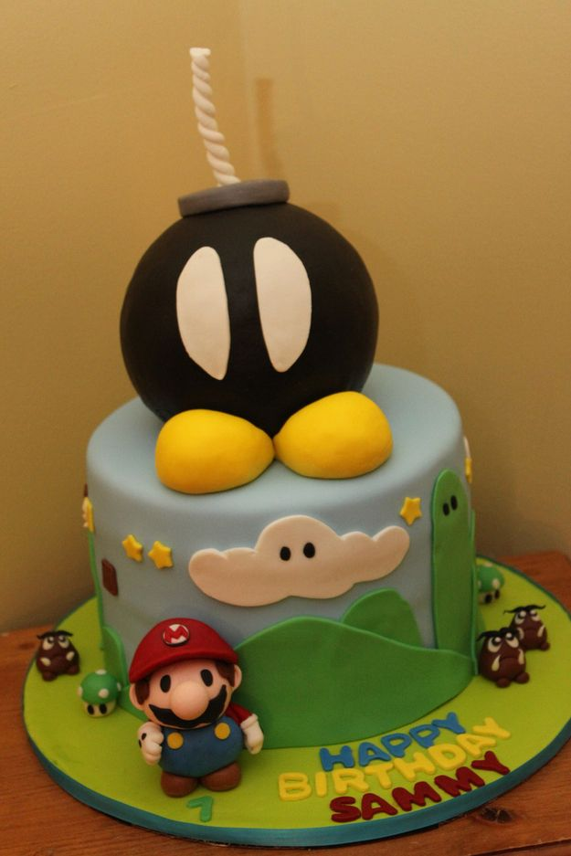 Drawn cake mario Cakes Terrifying Mario Awesome images