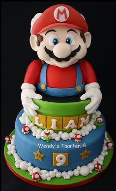 Drawn cake mario Mario Cake Cake Mario party
