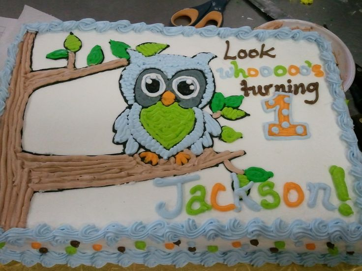 Drawn cake owl For in Cupcakes a First