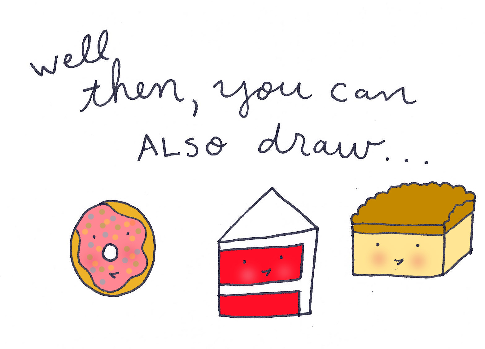 Drawn cake pastry To Adorable pastries! Illustrated draw