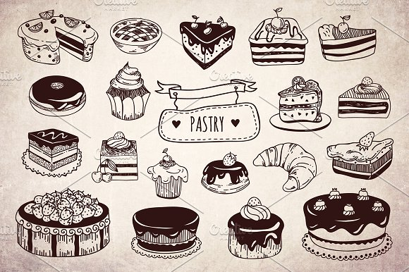 Drawn cake pastry Tasty Creative drawn on pastry