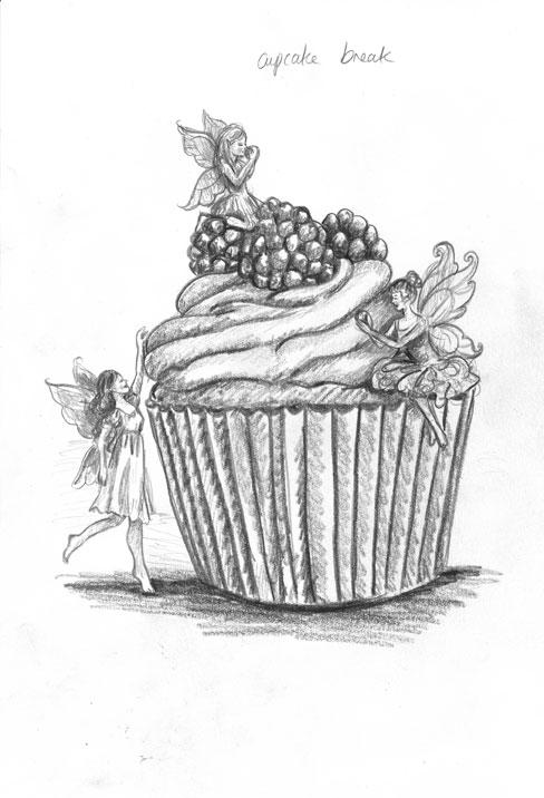 Drawn cake pencil drawing Designs cake to desenhar PicsVintage
