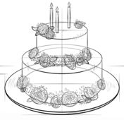 Drawn cake pencil drawing 25+ Pinterest step ideas to