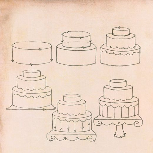 Drawn cake pencil drawing How by Pinterest cake Draw