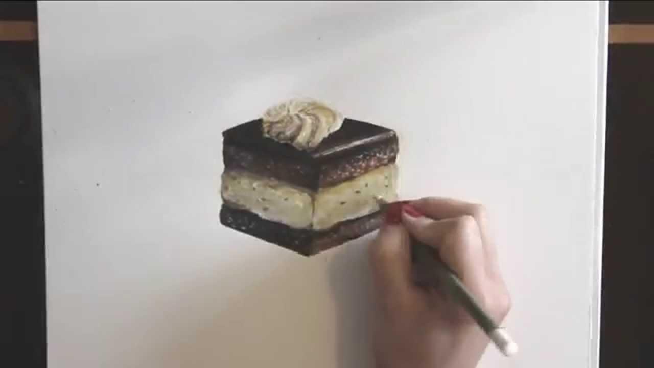 Drawn cake pencil drawing A YouTube cake chocolate draw