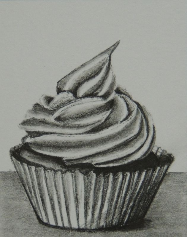 Drawn cake pencil drawing On icons images best (cup)cakes