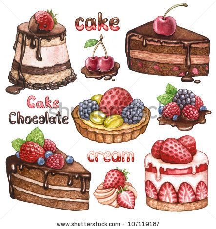 Drawn cake realistic 25+ watercolor drawing Cake best