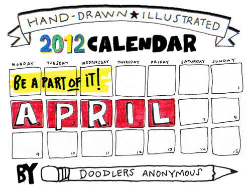 Drawn calendar Anonymous Calendar April Draw April