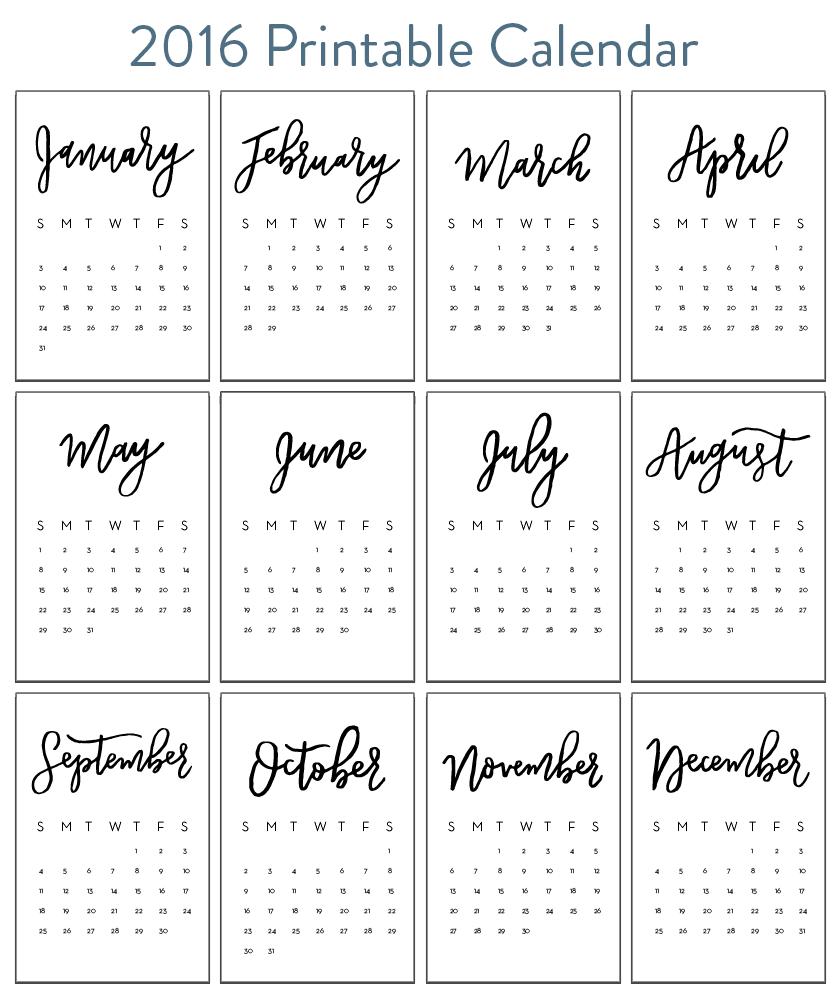 Drawn calendar  Calendars (Plus free Hand