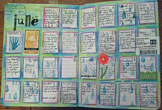 Drawn calendar composition journal #9