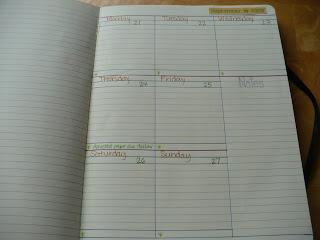 Drawn calendar composition journal #14