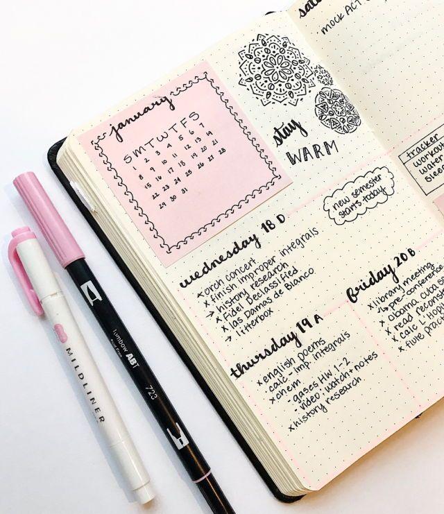 Drawn calendar composition journal #11
