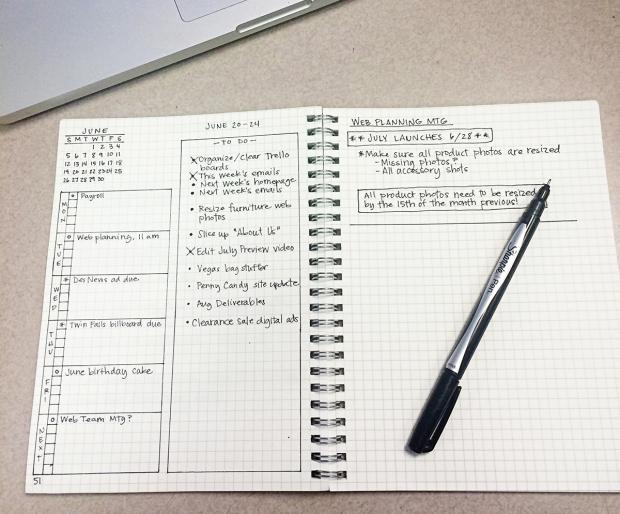Drawn calendar composition journal #7