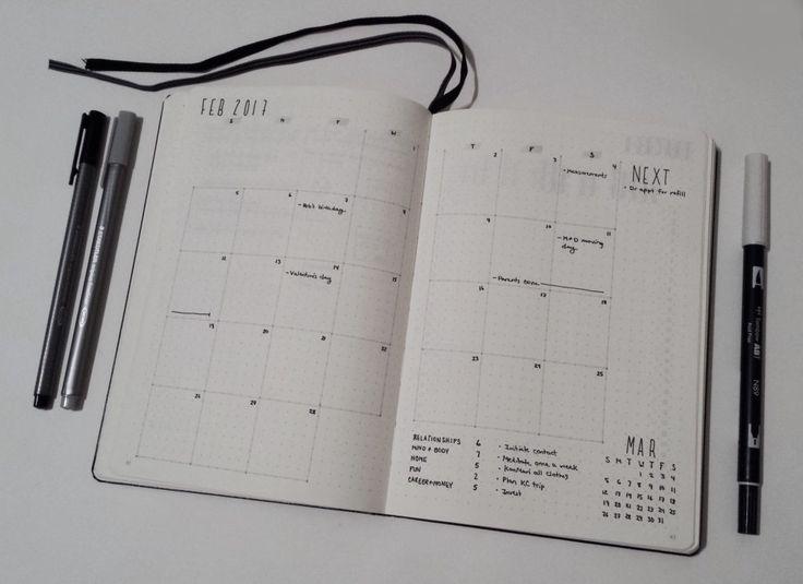 Drawn calendar composition journal #2