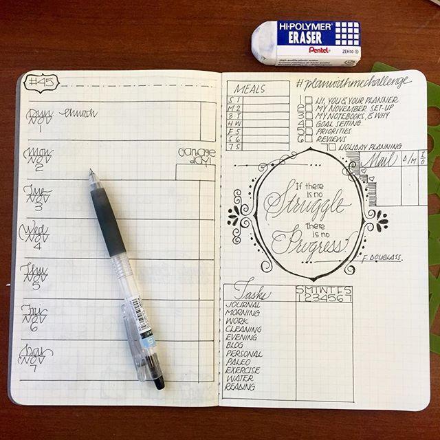 Drawn calendar composition journal #13