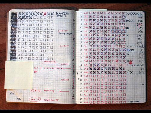 Drawn calendar composition journal #3