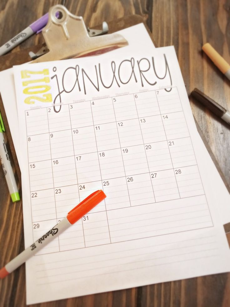 Drawn calendar Calendars Pinterest 25+ printables 2017
