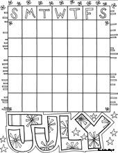 Drawn calendar printable #6
