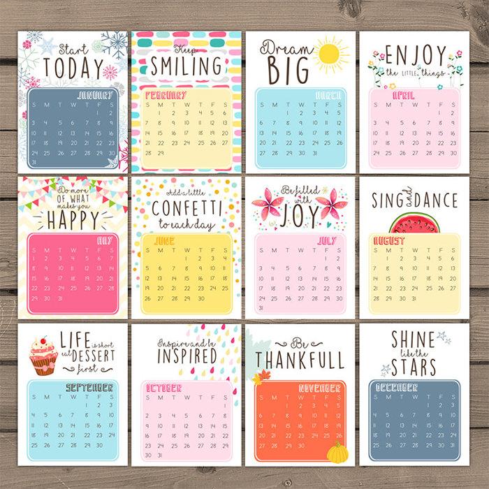 Drawn calendar printable #8
