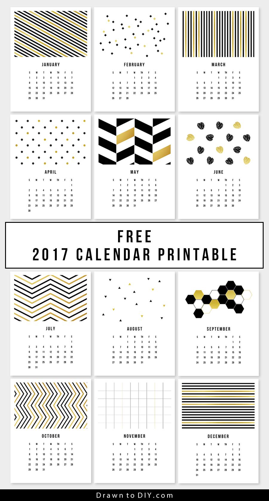 Drawn calendar printable #7