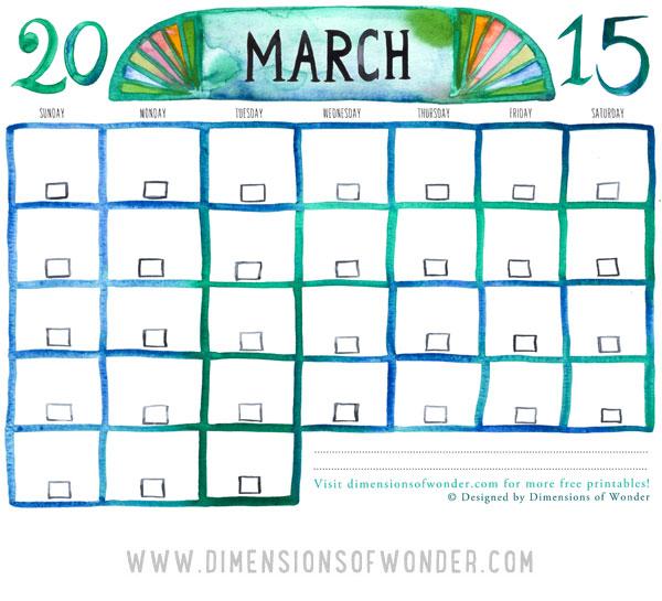 Drawn calendar printable #5