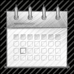 Drawn calendar Drawn Icon engine engineering sketch