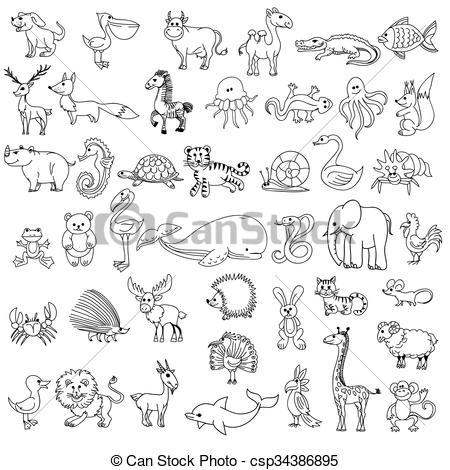 Drawn camel children's Childrens  Doodle animals EPS